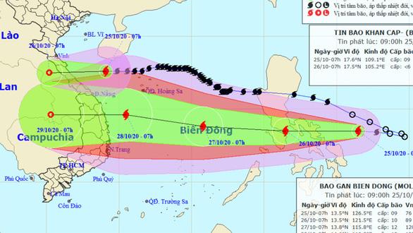 Bão Saudel còn cấp 9, bão Molave tiếp tục mạnh thêm - Ảnh 1.