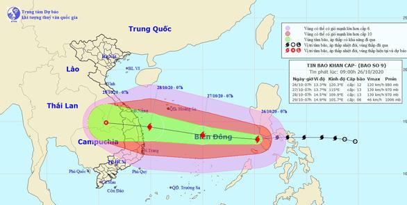 Các đài khí tượng quốc tế dự báo bão số 9 mạnh cỡ nào? - Ảnh 1.
