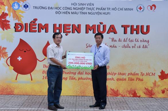 ĐH Công nghiệp thực phẩm TP.HCM ủng hộ 200 triệu đồng cho đồng bào miền Trung - Ảnh 1.