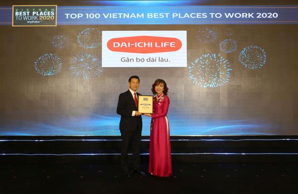 Dai-ichi Life Việt Nam đạt danh hiệu Top 2 Nơi làm việc tốt nhất ngành Bảo hiểm năm 2020 - Ảnh 1.