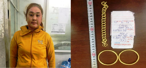 Bắt nữ nghi phạm chuyên đem vàng dỏm đến tiệm cầm đồ để lừa đảo - Ảnh 1.