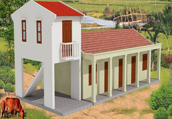 Chính phủ hỗ trợ người nghèo xây nhà chống bão lũ - Ảnh 2.