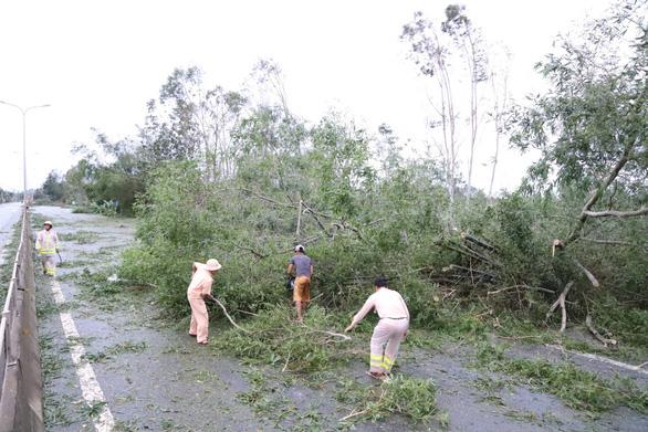 Sau bão, quốc lộ 1 qua Quảng Nam ngổn ngang cây cối - Ảnh 6.