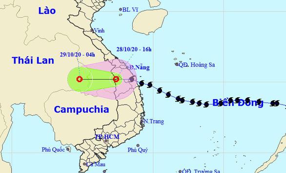 Bão số 9 đã suy yếu thành áp thấp nhiệt đới - Ảnh 1.