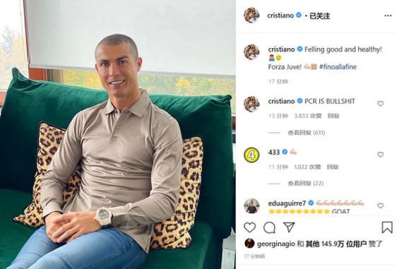 Lần thứ 3 dương tính với COVID-19, Ronaldo tức giận viết: PCR thật vớ vẩn - Ảnh 1.
