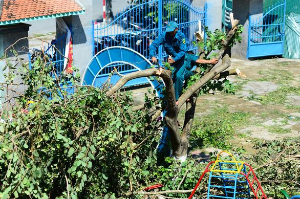 Tan hoang những ngôi trường ở tâm bão Quảng Ngãi - Ảnh 11.