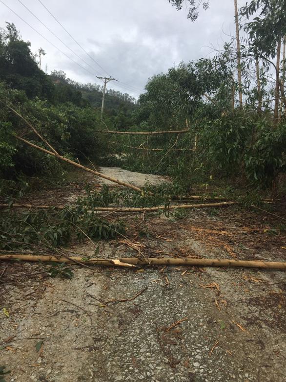 Đường 71 lại sạt lở do bão, chưa thể đưa lực lượng tìm kiếm lên thủy điện Rào Trăng 3 - Ảnh 1.