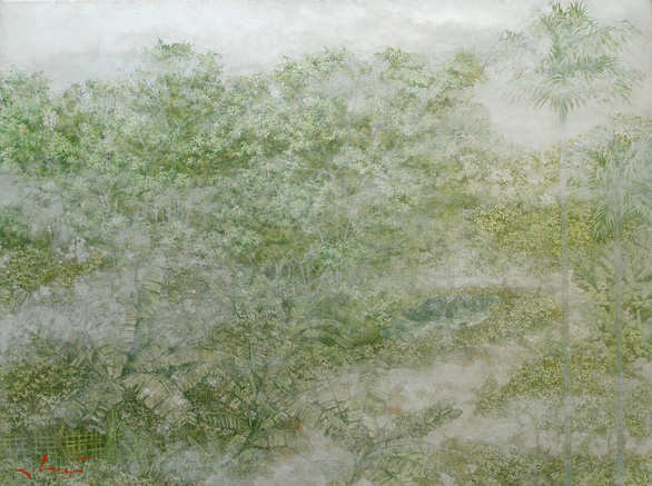 Nguyễn Quốc Huy mất hơn 10 năm mang mây mù, hơi ẩm vào tranh sơn mài - Ảnh 5.