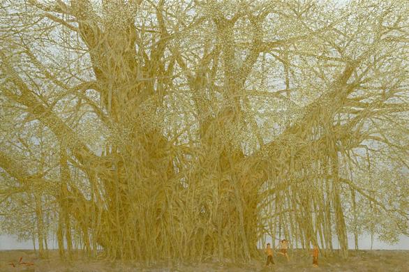 Nguyễn Quốc Huy mất hơn 10 năm mang mây mù, hơi ẩm vào tranh sơn mài - Ảnh 9.