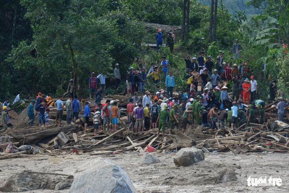 Cập nhật mới nhất ở Nam Trà My: 33 người sống sót, còn 14 người mất tích - Ảnh 1.