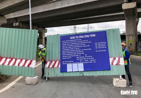 Cấm xe qua cầu vượt Nguyễn Hữu Cảnh 6 tháng để sửa đường - Ảnh 5.