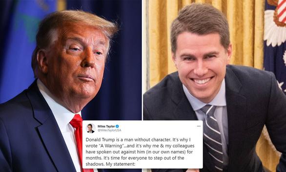 Cựu quan chức Mỹ thừa nhận là người ẩn danh chỉ trích ông Trump - Ảnh 1.