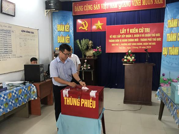 Người dân TP.HCM đi bỏ phiếu về việc thành lập TP Thủ Đức - Ảnh 7.