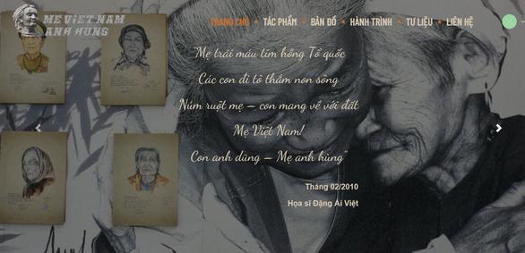 Lần đầu có website ảnh chân dung 'Mẹ Việt Nam anh hùng' - Ảnh 1.