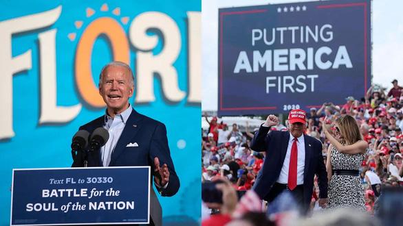 Trump - Biden quyết chiến ở 7 bang chiến trường - Ảnh 1.