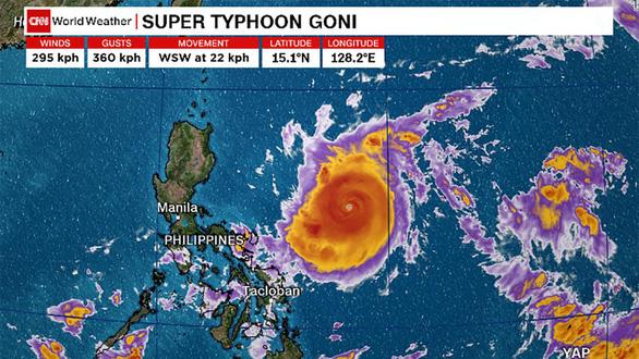 Philippines sơ tán hơn1 triệu dân tránh 'siêu bão mạnh nhất thế giới Goni - Ảnh 1.