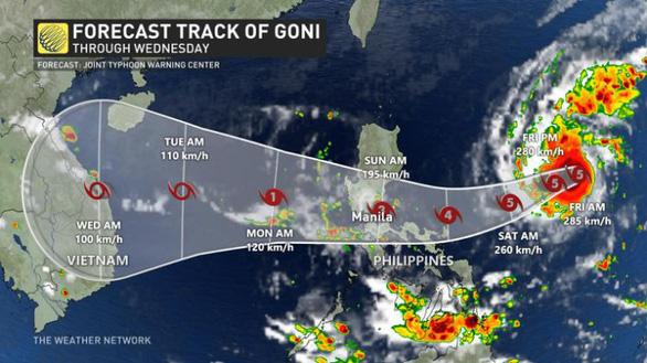 Philippines sơ tán hơn1 triệu dân tránh 'siêu bão mạnh nhất thế giới Goni - Ảnh 2.