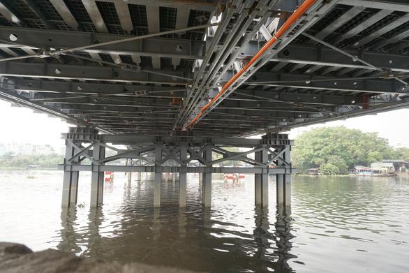 Cầu sắt tạm An Phú Đông lùi ngày hoàn thành tới tháng 12-2020 - Ảnh 2.