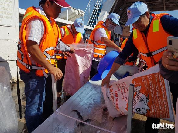 An Giang thả trên 18 tấn cá về sông để tái tạo nguồn lợi thủy sản - Ảnh 6.