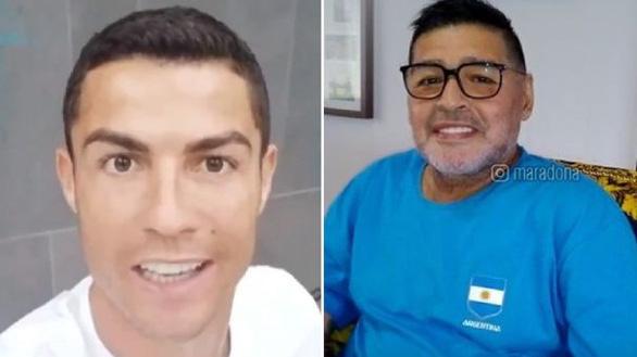 Maradona mừng thọ tuổi 60, Ronaldo chúc: Ông là số 1 nhưng... sau Bicho - Ảnh 1.