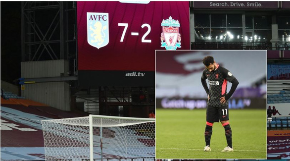 CĐV Liverpool sốc nặng khi thảm bại 2-7 trước Aston Villa - Ảnh 1.