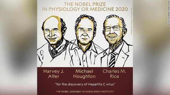 Nobel y sinh 2020 vinh danh khám phá về virus viêm gan C - Ảnh 1.