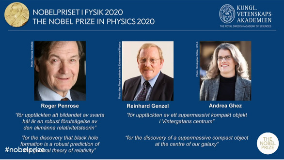 Nobel vật lý 2020 về tay 3 người - Ảnh 1.