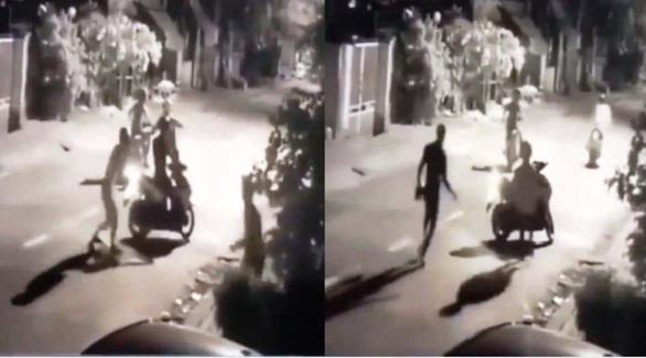 Bắt băng chặn đường, chém người, cướp xe máy lúc rạng sáng ở Bình Tân - Ảnh 1.