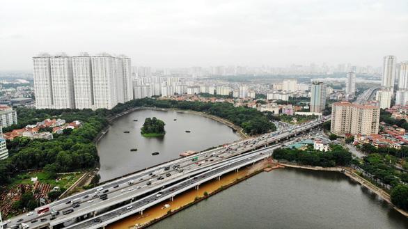 Khánh thành cầu qua hồ Linh Đàm và nhánh kết nối đường vành đai 3 trên cao - Ảnh 4.