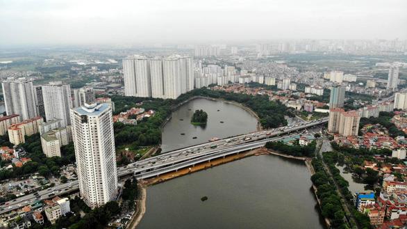 Khánh thành cầu qua hồ Linh Đàm và nhánh kết nối đường vành đai 3 trên cao - Ảnh 1.