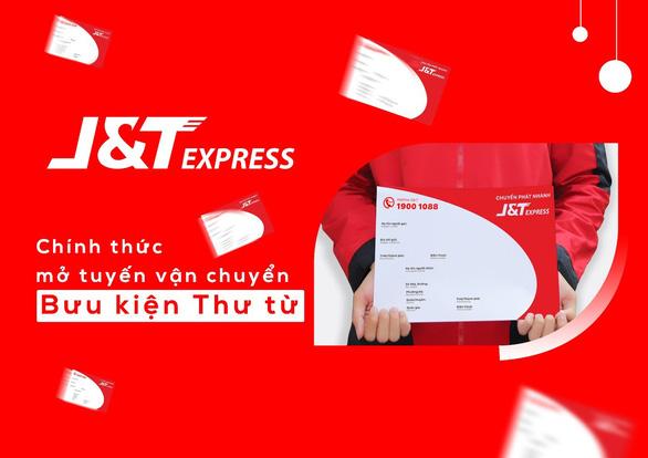 J&T Express chính thức mở tuyến vận chuyển nhanh cho đơn hàng thư từ - Ảnh 1.