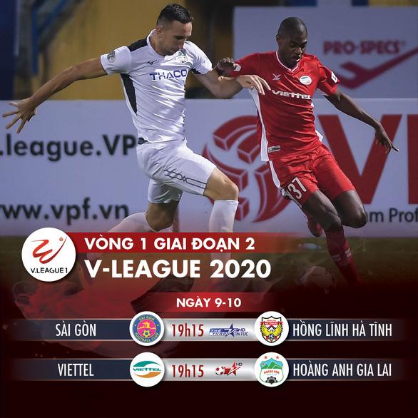 Lịch thi đấu V-League 2020 ngày 9-10: Viettel - Hoàng Anh Gia Lai - Ảnh 1.