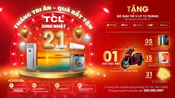 Tháng tri ân – quà bất tận từ TCL Việt Nam - Ảnh 1.