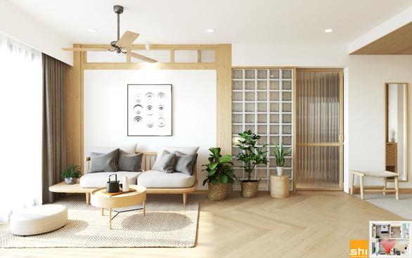 Thiết kế nội thất căn hộ phong cách Japandi - Sự kết hợp 2 châu lục - Ảnh 1.
