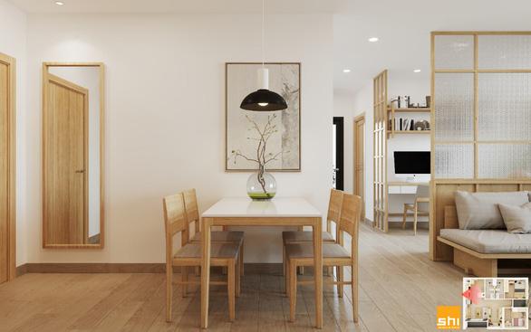 Thiết kế nội thất căn hộ phong cách Japandi - Sự kết hợp 2 châu lục - Ảnh 2.