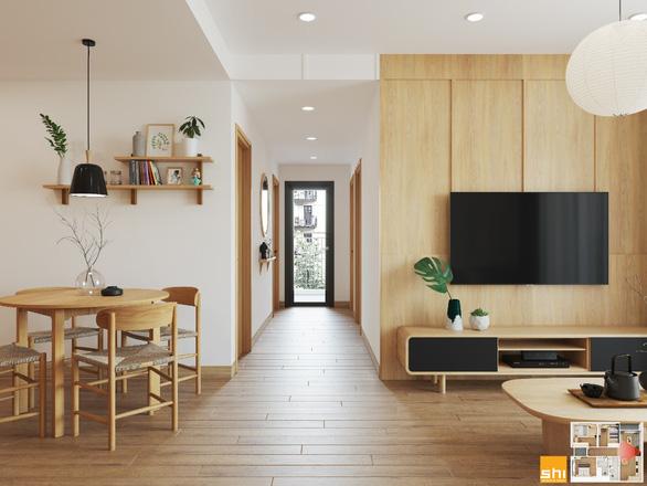 Thiết kế nội thất căn hộ phong cách Japandi - Sự kết hợp 2 châu lục - Ảnh 4.