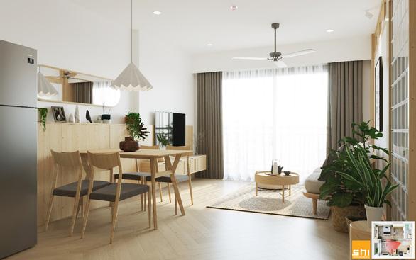 Thiết kế nội thất căn hộ phong cách Japandi - Sự kết hợp 2 châu lục - Ảnh 6.