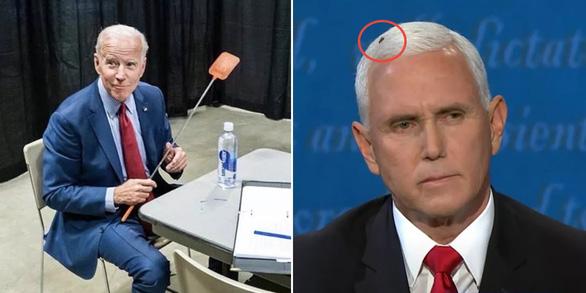 Nhóm ông Biden bán sạch 35.000 vỉ đập ruồi nhờ... con ruồi trên tóc ông Pence - Ảnh 2.