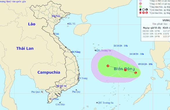 Mưa lũ chưa qua, Biển Đông hình thành vùng áp thấp mới hướng vào miền Trung - Ảnh 1.