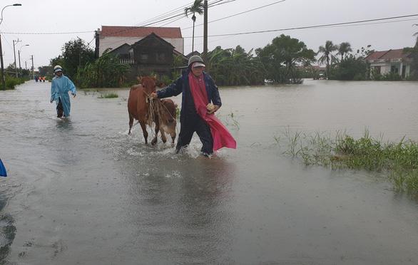 Phú Yên: Lũ dâng nhanh ở nhiều nơi sau bão - Ảnh 3.