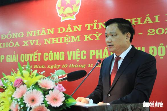 Ông Nguyễn Khắc Thận được bầu làm chủ tịch UBND tỉnh Thái Bình - Ảnh 1.