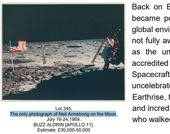 Đấu giá ảnh Neil Armstrong trên Mặt Trăng và nhiều ảnh hiếm của NASA - Ảnh 2.