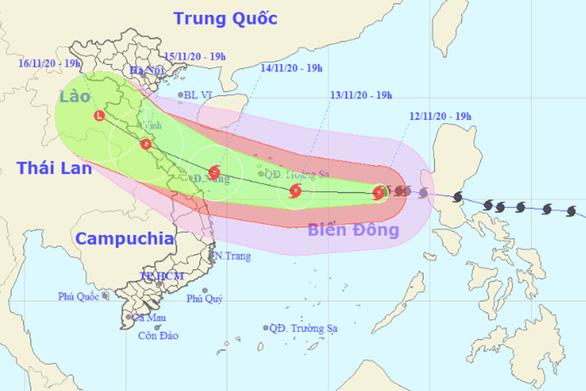 Tối 14-11, dự báo bão Vamco vào Quảng Bình - Quảng Nam - Ảnh 1.