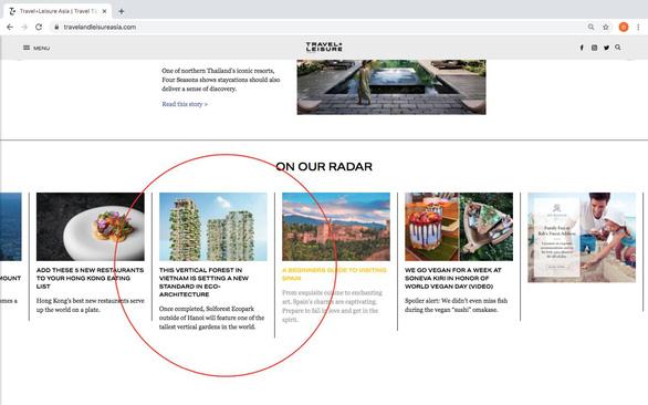 Tạp chí Mỹ viết về tòa tháp xanh cao nhất Việt Nam - Ảnh 1.