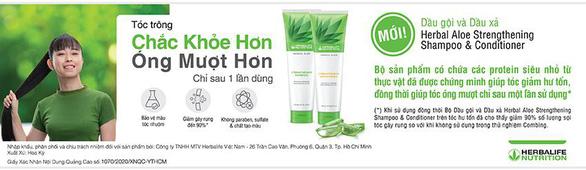 Herbalife Việt Nam ra mắt Dầu gội Herbal Aloe Strengthening Shampoo và Dầu xả Herbal Aloe Strengthen - Ảnh 2.