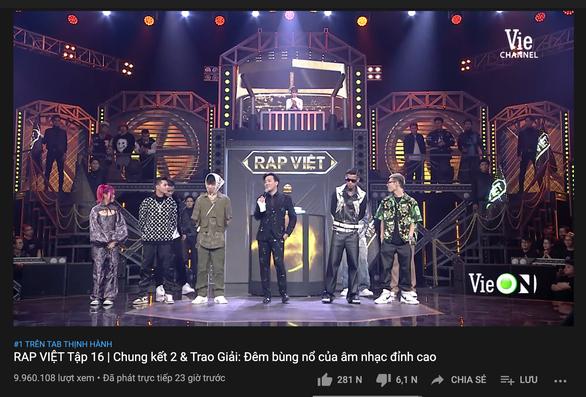 Trấn Thành diễn đạt không rõ ràng, chưa có kết luận Rap Việt lập kỷ lục YouTube thế giới - Ảnh 3.