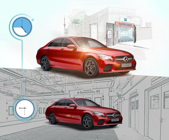 Mercedes-Benz Vietnam Star triển khai dịch vụ 'sơn nhanh trong ngày' - Ảnh 1.