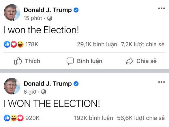 Ông Trump 2 lần trong ngày tuyên bố đã chiến thắng bầu cử - Ảnh 2.