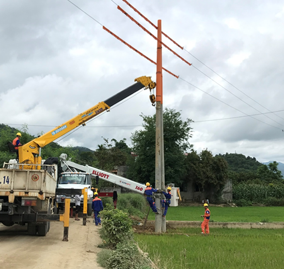 EVNNPC đề phòng sự cố lưới điện do thiên tai tại Hà Giang - Ảnh 1.
