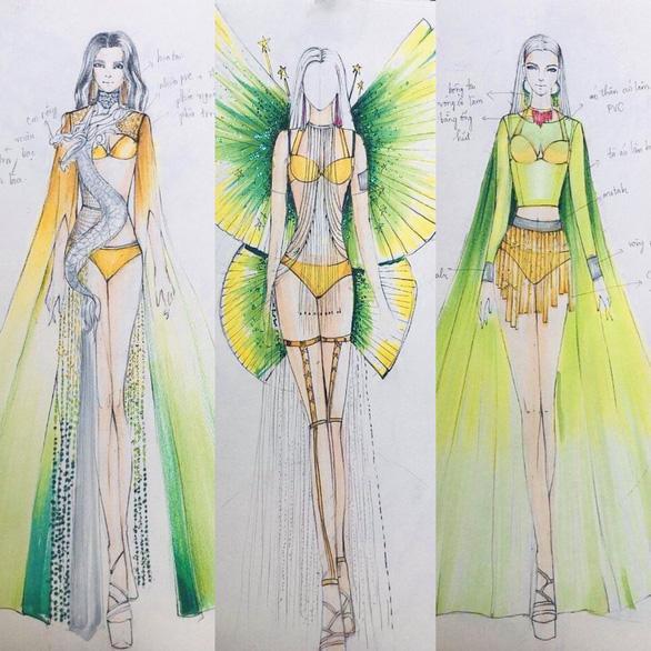 Hoa khôi Du lịch sẽ thi trang phục thiết kế từ nguyên liệu tái chế kết hợp bikini - Ảnh 3.